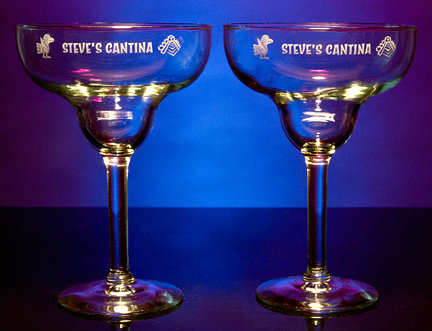 Personalized Cantina Margarita Glasses
