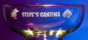 Personalized Cantina Margarita Glass - Close Up