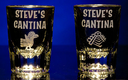 Personalized Cantina Shot Glasses