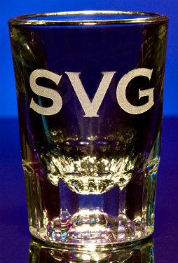 personalized monogram shot glasses