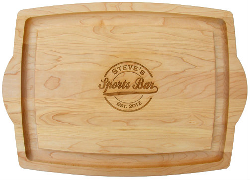 Personalized Sports Bar Large Cutting Board with Handles