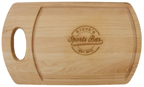 Personalized Sports Bar Cutting Board with Handle