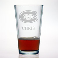 Personalized NHL Hockey Pint Glass