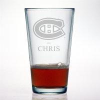 Personalized NHL Hockey Pint Glass