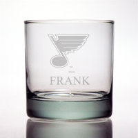 Personalized NHL Hockey Rocks Glass