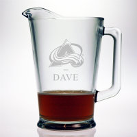 Personalized NHL Hockey Glass Pitcher
