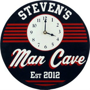 Personalized Man Cave Clock - Retro