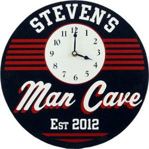 Personalized Man Cave Clock - Retro