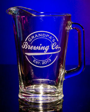 Personalized Brewing Company Glass Pitcher