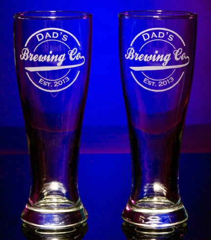 Personalized Brewing Company Pilsner Glasses