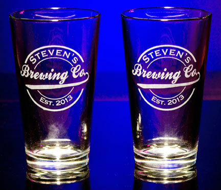 Personalized Brewing Company Pint Glasses