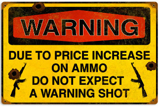 Warning Shot Vintage Metal Sign