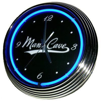 Man Cave Neon Clock - Blue