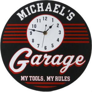 Personalized Garage Clock - Retro