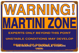 Martini Zone Vintage Metal Sign