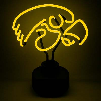 University of Iowa Neon Sign - Hawkeyes