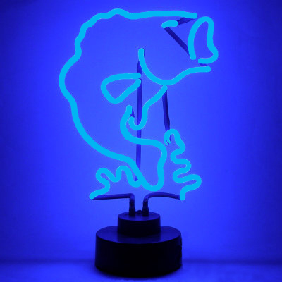 Largemouth bass neon sign man cave gifts for Fish neon sign