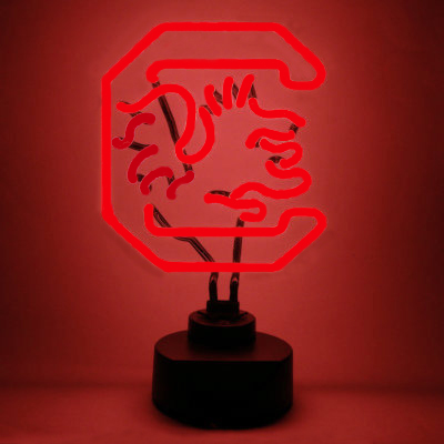 University Of South Carolina Neon Sign Gamecocks Man