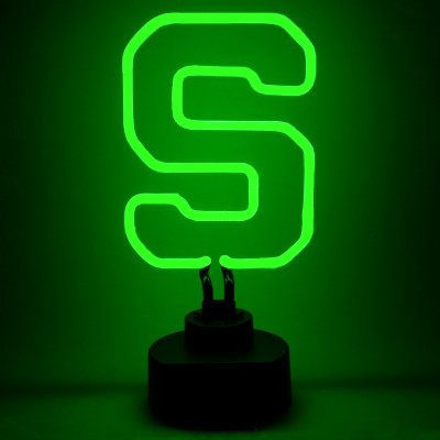 Michigan State University Neon Sign Spartans Man Cave