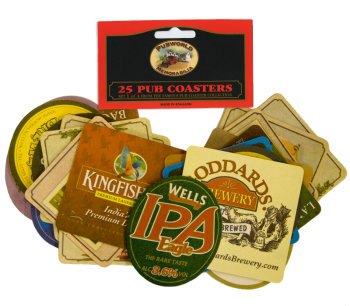 English & Irish Pub Coasters - Set 1 (as shown)