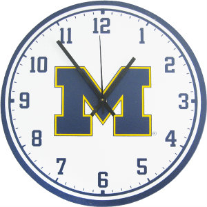 University of Michigan Wall Clock - Wolverines