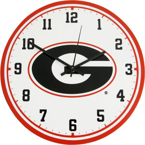 University of Georgia Wall Clock - Bulldogs