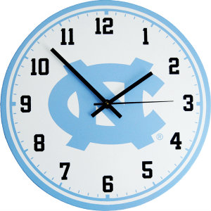 University of North Carolina Wall Clock - Tar Heels
