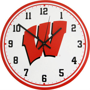 University of Wisconsin Wall Clock - Badgers