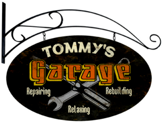 Personalized Garage Vintage Metal Sign with wall mount