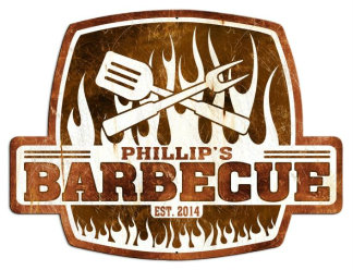 Personalized Barbeque Metal Sign