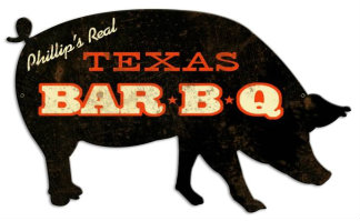 Personalized BBQ Pig Metal Sign