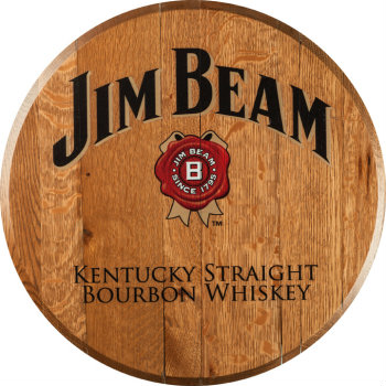 Jim Beam Barrel Head Sign