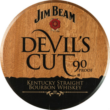 Devils Cut Barrel Head Sign