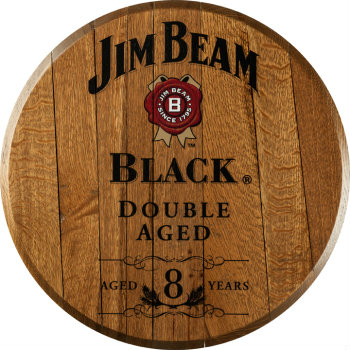 Jim Beam Black Barrel Head Sign