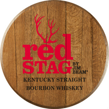 Red Stag Barrel Head Sign