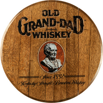 Old Grand-Dad Barrel Head Sign
