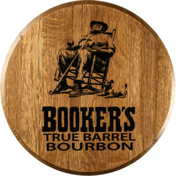 Booker's Barrel Head Sign
