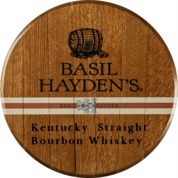 Basil Hayden's Barrel Head Sign
