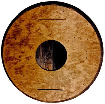 Personalized Knob Creek Barrel Head Sign - Man Cave version - Back
