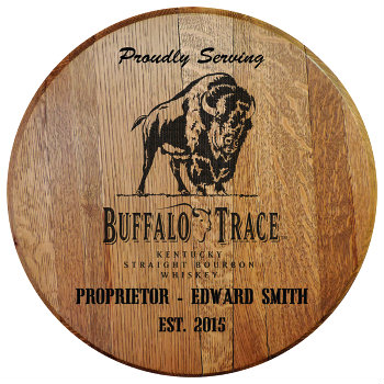 Personalized Buffalo Trace Barrel Head Sign with Name & Established Date