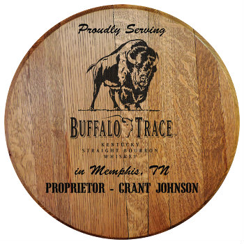 Personalized Buffalo Trace Barrel Head Sign - City and State version