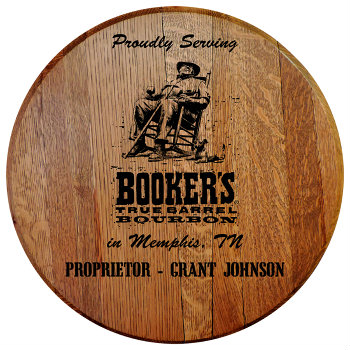 Personalized Bookers Barrel Head Sign - City and State version
