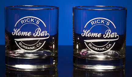 Personalized Home Bar Double Old Fashioned Glasses