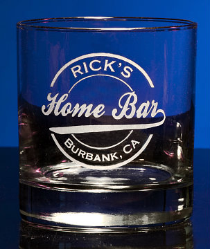 Personalized Home Bar Double Old Fashioned Glass