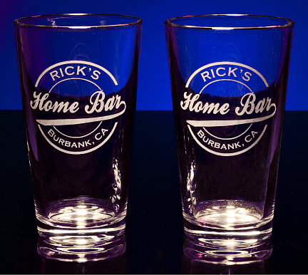Personalized Home Bar Pint Glasses
