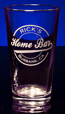 Personalized Home Bar Pint Glass