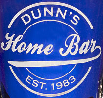 Personalized Home Bar Logo - Close Up