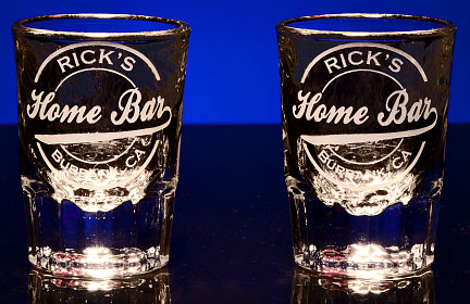 Personalized Home Bar Shot Glasses