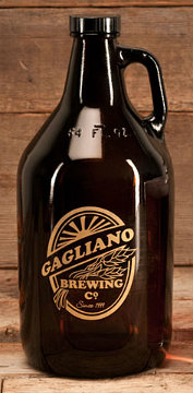 Personalized Brewing Company Glass Growler - Gold Version
