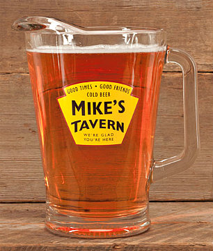 Personalized Yellow Tavern Glass Pitcher